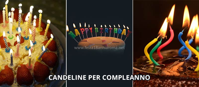 candeline per compleanno