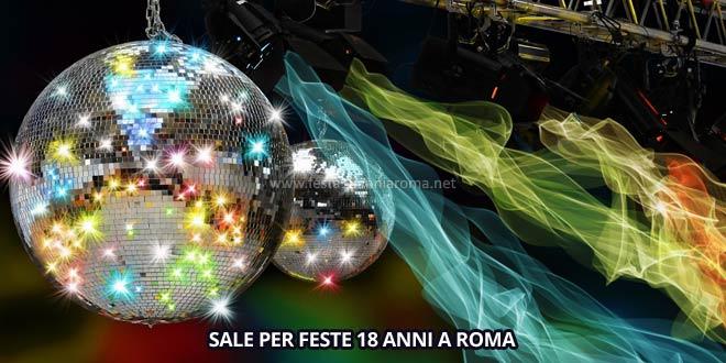 sale per feste di 18 anni a roma