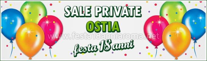Sale a Ostia per feste 18 anni