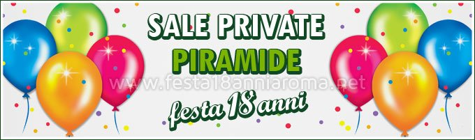 Sale private per feste Roma Piramide