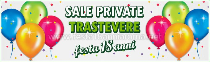 Sale private per feste Roma Trastevere