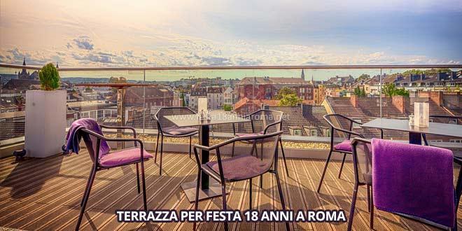 Terrazza a Roma per feste 18 anni, organizza una festa di compleanno