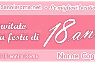 biglietto d'invito rosa per evento facebook