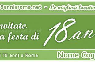 biglietto d'invito verde per evento facebook