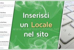 inserisci locale nel sito