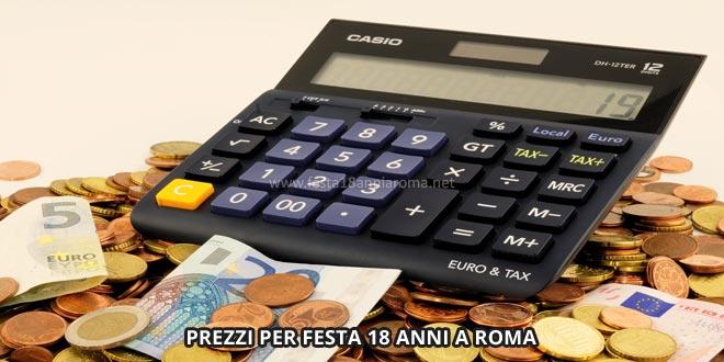 prezzi per festa 18 anni a roma